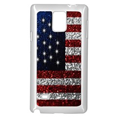 American Flag In Glitter Photograph Samsung Galaxy Note 4 Case (white) by bloomingvinedesign