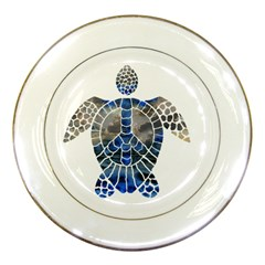Peace Turtle Porcelain Display Plate by oddzodd