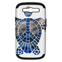 Peace Turtle Samsung Galaxy S III Hardshell Case (PC+Silicone) by oddzodd