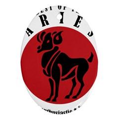 Aries Horoscope Zodiac Sign Birthday Oval Ornament by tematika