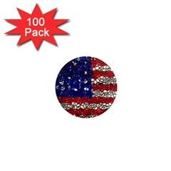 American Flag Mosaic 1  Mini Button Magnet (100 Pack) by bloomingvinedesign