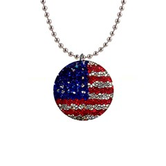 American Flag Mosaic Button Necklace by bloomingvinedesign