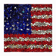American Flag Mosaic Glasses Cloth (medium, Two Sided) by bloomingvinedesign