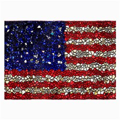 American Flag Mosaic Glasses Cloth (large) by bloomingvinedesign