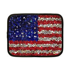 American Flag Mosaic Netbook Sleeve (small) by bloomingvinedesign