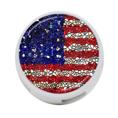 American Flag Mosaic 4 Port Usb Hub (one Side) by bloomingvinedesign