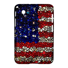 American Flag Mosaic Samsung Galaxy Tab 2 (7 ) P3100 Hardshell Case  by bloomingvinedesign