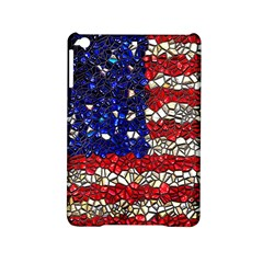 American Flag Mosaic Apple iPad Mini 2 Hardshell Case by bloomingvinedesign