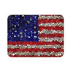 American Flag Mosaic Double Sided Flano Blanket (mini) by bloomingvinedesign