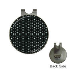 Futuristic Dark Hexagonal Grid Pattern Design Hat Clip With Golf Ball Marker by dflcprints