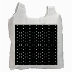 Futuristic Dark Hexagonal Grid Pattern Design White Reusable Bag (One Side) by dflcprints