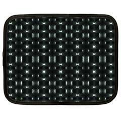 Futuristic Dark Hexagonal Grid Pattern Design Netbook Sleeve (xl) by dflcprints
