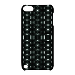 Futuristic Dark Hexagonal Grid Pattern Design Apple Ipod Touch 5 Hardshell Case With Stand by dflcprints