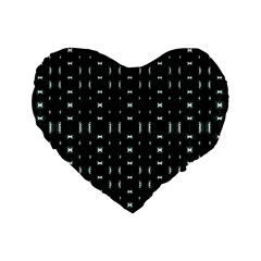 Futuristic Dark Hexagonal Grid Pattern Design 16  Premium Flano Heart Shape Cushion  by dflcprints
