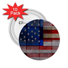 American Flag Quilt 2 25  Button (10 Pack) by bloomingvinedesign