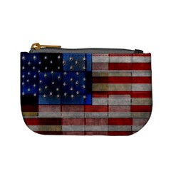 American Flag Quilt Coin Change Purse by bloomingvinedesign