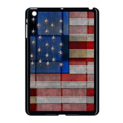 American Flag Quilt Apple Ipad Mini Case (black) by bloomingvinedesign