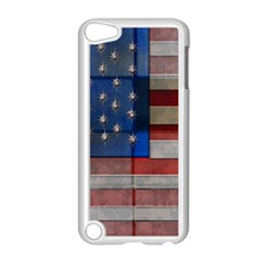 American Flag Quilt Apple Ipod Touch 5 Case (white) by bloomingvinedesign