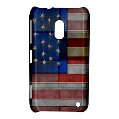 American Flag Quilt Nokia Lumia 620 Hardshell Case by bloomingvinedesign