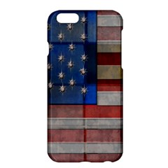 American Flag Quilt Apple Iphone 6 Plus Hardshell Case by bloomingvinedesign