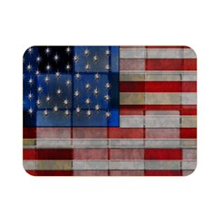 American Flag Quilt Double Sided Flano Blanket (mini) by bloomingvinedesign