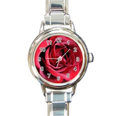 An Open Rose Round Italian Charm Watch by bloomingvinedesign