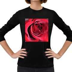 An Open Rose Women s Long Sleeve T Shirt (dark Colored) by bloomingvinedesign