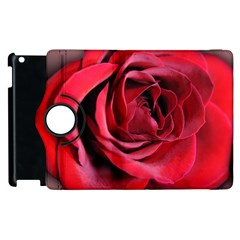An Open Rose Apple Ipad 3/4 Flip 360 Case by bloomingvinedesign