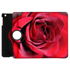 An Open Rose Apple Ipad Mini Flip 360 Case by bloomingvinedesign