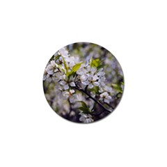 Apple Blossoms Golf Ball Marker by bloomingvinedesign