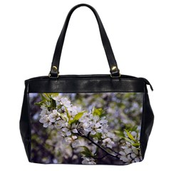 Apple Blossoms Oversize Office Handbag (two Sides) by bloomingvinedesign