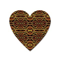 Tribal Art Abstract Pattern Magnet (heart) by dflcprints