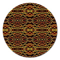 Tribal Art Abstract Pattern Magnet 5  (round) by dflcprints
