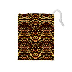 Tribal Art Abstract Pattern Drawstring Pouch (medium) by dflcprints