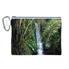 Bamboo waterfall Canvas Cosmetic Bag (Large)