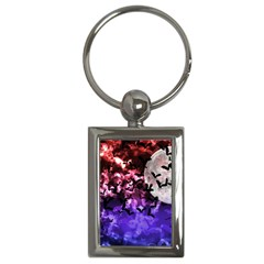 Bokeh Bats In Moonlight Key Chain (rectangle) by bloomingvinedesign