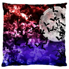 Bokeh Bats In Moonlight Standard Flano Cushion Case (one Side) by bloomingvinedesign