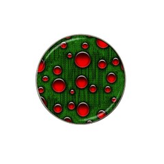 Geek Binary Digital Christmas Golf Ball Marker 4 Pack (for Hat Clip) by bloomingvinedesign