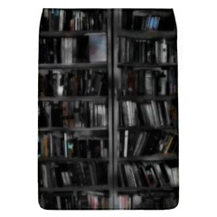 Black White Book Shelves Removable Flap Cover (large) by bloomingvinedesign