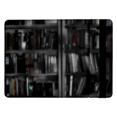 Black White Book Shelves Samsung Galaxy Tab Pro 12 2  Flip Case by bloomingvinedesign