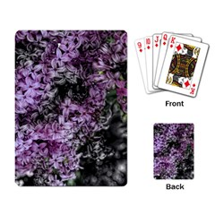 Lilacs Fade To Black And White Playing Cards Single Design by bloomingvinedesign