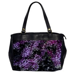 Lilacs Fade To Black And White Oversize Office Handbag (one Side) by bloomingvinedesign