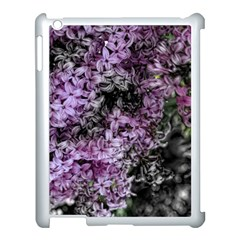 Lilacs Fade To Black And White Apple Ipad 3/4 Case (white) by bloomingvinedesign