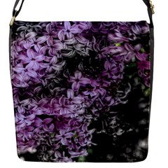 Lilacs Fade To Black And White Flap Closure Messenger Bag (small) by bloomingvinedesign