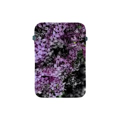 Lilacs Fade To Black And White Apple Ipad Mini Protective Sleeve by bloomingvinedesign