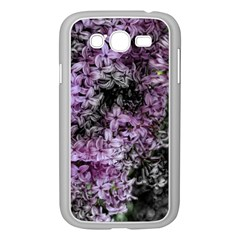 Lilacs Fade To Black And White Samsung Galaxy Grand Duos I9082 Case (white) by bloomingvinedesign