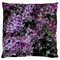 Lilacs Fade to Black and White Large Flano Cushion Case (Two Sides)