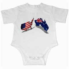 Australian And Us Flag Infant Bodysuit by Ozmerican