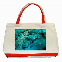 Turquoise Classic Tote Bag (Red) by Curioddities
