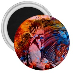 Astral Dreamtime 3  Button Magnet by icarusismartdesigns